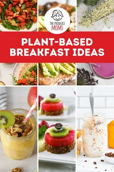 Start your day with a delicious plant-based breakfast. We've rounded up our favorite plant-based breakfast ideas for you to try. Kiwi Recipes, Pear Recipes, Blueberry Recipes, Avocado Recipes, Plant Based Diet, Plant Based Recipes, Healthy Desserts, Healthy Recipes, Plant Based Breakfast