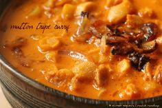 Ruchik Randhap (Delicious Cooking): Sunday Special! Bokryachya Botyechi Kadi (Traditional Mutton Tripe Curry)