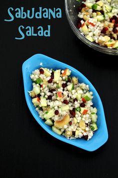 Sabudana salad recipe -->> filling breakfast or snack for navratri vrat