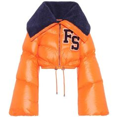 Fenty by Rihanna Funnel Collar Cropped Down Jacket Outerwear Jackets, Cropped Jackets, Kpop Outfits, Retro Outfits, Coats For Women, Jackets For Women, Orange Jacket, Down Parka, Shirts