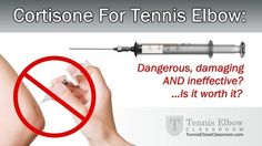 Cortisone shots for the treatment of tennis elbow are not only dangerous but can actually weaken the tendons and ligaments in the elbow. Check out one of our free educational seminars for the treatment of tennis elbow. Visit us at mitruskawellness.com or call the office at 732-324-4300 to secure your spot for our August 9th seminar