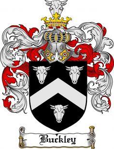 $7.99 Buckley Coat of Arms Buckley Family Crest Instant Download