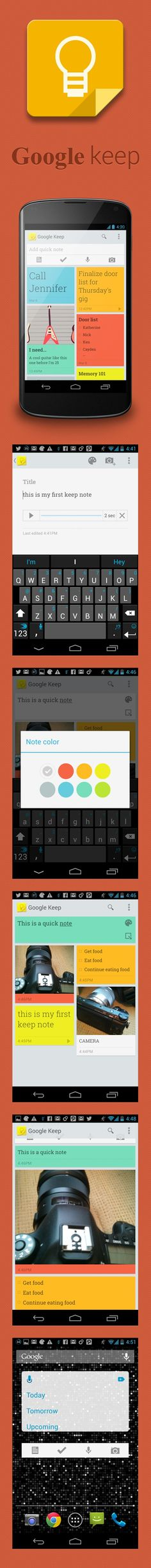 Google Keep - With Google Keep, you can create notes, checklists, photos and voice memos