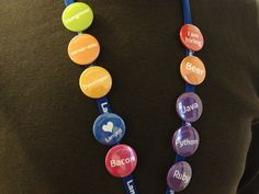 COLOURFUL BADGES FOR IDENTIFYING EXHIBITORS QUICKLY