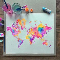 Mapamundi colorido