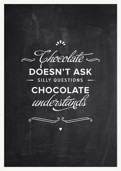 yep. // Kitchen decor vintage blackboard chocolate by TheShufflePrintsShop
