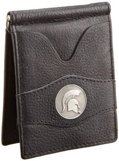 Danbury Men's Michigan State University Front Pocket Money Clip, Black, One Size Danbury. $26.50. Inside metal currency clip, exterior and interior ID windows, six credit card pockets. Made in India. Hand Wash. Packaged in collectable gift tin, antique style university ornament in center of wallet. 100% Leather. Save 17%!