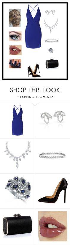 """Untitled # 229"" by binasa87 ❤ liked on Polyvore featuring Monique Lhuillier, Effy Jewelry, Christian Louboutin, Jimmy Choo, Charlotte Tilbury and Essie"
