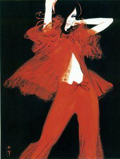 Image result for Rene Gruau Fashion Illustration