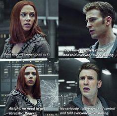 Captain America Black Widow, Black Widow Avengers, Marvel Avengers Movies, Marvel Dc, Avengers Memes, Marvel Quotes, Funny Marvel Memes, Romanogers, Marvel Cinematic Universe