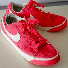 Womens NIKE BLAZER Low Sneakers Shoes 7.5 PINK Coral Peach Tennis Fashion RETRO #Nike #Trainers