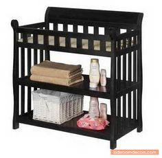 Practical And Huge Changing Table With Two Shelves With Neutral Design - http://www.kidsroomdecors.com/kids-room-decorating/practical-and-huge-changing-table-with-two-shelves-with-neutral-design.html