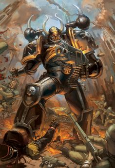 WH40K: Chaos Marine by StuartHughe on deviantART