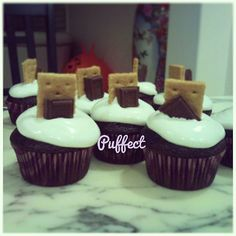 #Smores #cupcakes! Perfect for a summer celebration under the stars