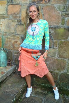 NEON cotton t shirt applique t shirt felt MANDALA embroidery HIPPIE yoga clothes gypsy bohemian positive energy eco friendly clothing.