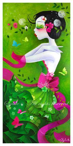Kai Fine Art is an art website, shows painting and illustration works all over the world. Illustrations, Illustration Art, Art Fantaisiste, Dandelion Art, Art Asiatique, Art Graphique, Whimsical Art, Asian Art, Art Pictures