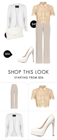 """My First Polyvore Outfit"" by anastasia-tyukhaeva ❤ liked on Polyvore featuring MaxMara, self-portrait, River Island, Charlotte Russe and Style & Co."