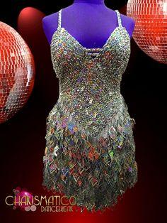 Charismatico Dancewear Store - CHARISMATICO Silver Sequin Diva Latin Salsa Dance Dress With Flashy Cutout Fringes, $135.00 (http://www.charismatico-dancewear.com/products/CHARISMATICO-Silver-Sequin-Diva-Latin-Salsa-Dance-Dress-With-Flashy-Cutout-Fringes.html)