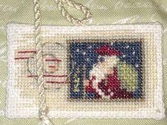 Christmas Postage Stamp Christmas Cross Stitch