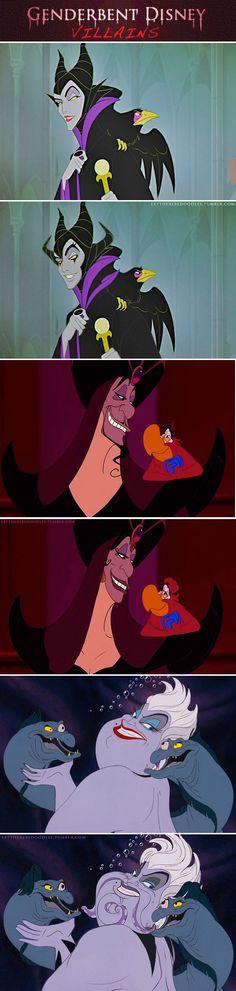 Gender bent Disney Villains