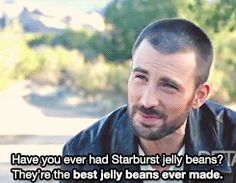 That time he showed his appreciation for Starbursts, you knew you'd be soulmates. | 29 Times Chris Evans Ruined You For Other Men