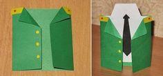 Как делается открытка для пап