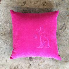 Pink Bunny OK Cushion, Sandi Reefman (40cm). #placesandgraces #collection #bunny #pink #cushion Interior Styling, Throw Pillows, Furniture, Vintage, Collection, Interior Decorating, Toss Pillows, Cushions, Decorative Pillows