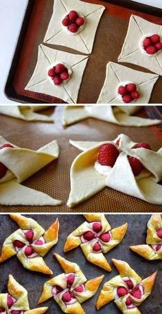 New Easy Cake : Delicious Wind Vire, Homemade Pastries, Homemade Pancakes, Baking Recipes, Snack Recipes, Dessert Recipes, Pancake Recipes, Crescent Roll Recipes, Puff Pastry Recipes, Puff Pastries