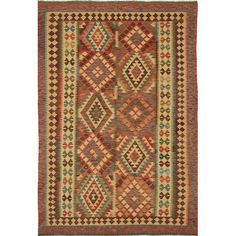 Found it at Wayfair - Anatolian Kilim Flat-Woven Beige/Bright Red Area Rug