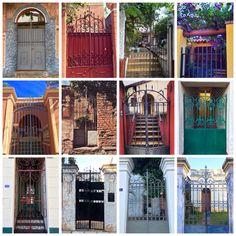 Collage de portones antiguos de Asunción-Paraguay