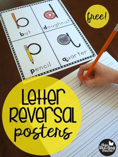 Free Letter Reversal Posters for b, d, p, & q. So helpful for preschool and kindergarten!