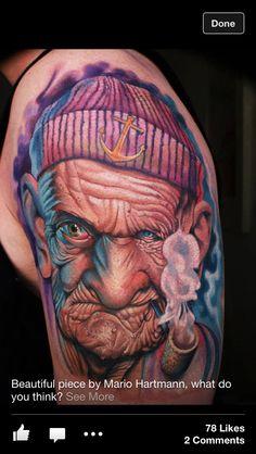 Popeye tattoo by Mario Hartmann