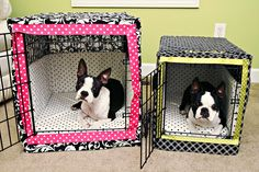 I think the bumper pads are a little much but I actually might make a cover since bella's crate sits right in the family room.  Dog Crate Bumper Pads Sewing Pattern