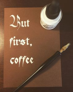 """Trying a different kind of paper for the first time... . . . #calligraphy #calligraphyprint…"""""""