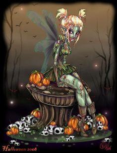 Zombie Tinkerbell by ~NoFlutter Manga & Anime / Digital Media / Drawings… Zombie Disney, Creepy Disney, Disney Horror, Evil Disney, Horror Art, New School Tattoos, Walt Disney, Disney Art, Disney Girls