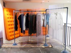 "DOVER STREET MARKET NEW YORK, New York, ""Rebuilding Your Fall/Winter Wardrobe"", for Eckhaus Latta, pinned by Ton van der Veer"