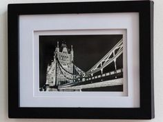 Wall Art Tower Bridge London 6x4 Print Black & White by EmmyCPhotography. available from Etsy
