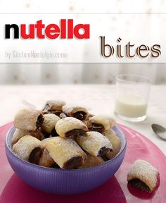 Nutella Bites = pillowy delights! recipe from kitchennostalgia.com