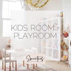 Kids bedroom and playroom decoration inspiration.