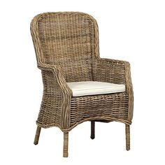Rattan Armchair, Rattan Dining Chairs, Scandinavian Dining Chairs, Dining Arm Chair, Outdoor Chairs, Blue Armchair, Kitchen Chairs, Upholstered Chairs, Outdoor Dining