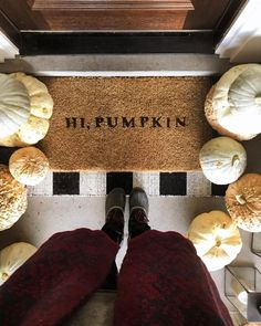 """4,437 Likes, 80 Comments - JULIA MARCUM homebody  (@chrislovesjulia) on Instagram: """"Hi, Pumpkin!! ☺️ Apparently it's #nationalpumpkinday, so I had to share our doormat I stenciled…"""""""