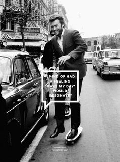 Clint Eastwood in Rome, 1965. | Esquire magazine 2013