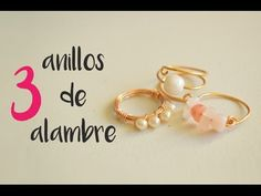 27d044dfffa4 Como hacer tres anillos con alambre  How to make three rings with wire  (english subtitles)  9
