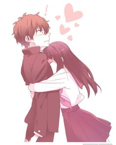 Manga Couple This is what happens when you satisfy Chitanda\'s curiosity xD Anime = Hyouka - Anime Couples Drawings, Anime Couples Manga, Manga Anime, Anime Couples Hugging, Anime Boys, Couple Manga, Anime Love Couple, Anime Cosplay, Kawaii Anime
