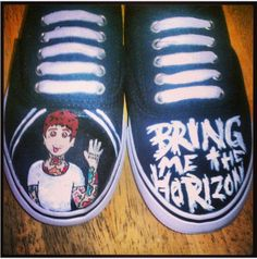 Bring Me The Horizon Custom Canvas Shoes by BombAssKicks on Etsy, $35.00