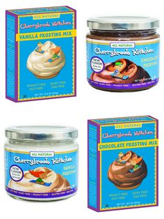 Cherrybrook Kitchen Frosting (Review): Mixes & Ready-to-Spread - all dairy-free, nut-free, soy-free, gluten-free, vegan and junk-free!