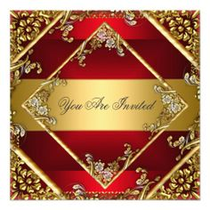 Gold Red Party Invitation Floral Frame In our offer link above you will seeDeals          Gold Red Party Invitation Floral Frame Review on the This website by click the button below...