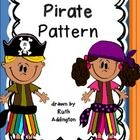bw pirate pattern I am doing a pirate theme for my classroom this year and they are going to make their own pirate for the first bulletin board. So I drew this patte...