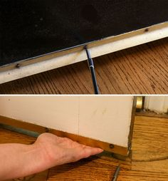 Fixing Common Door Problems - Door rubs or doesn't close properly? If so, this tutorial covers all the issues and explains how to fix them. Car Tracking Device, Handyman Projects, Door Draft, Door Seals, Home Repairs, Baseboards, Home Improvement Projects, Home Remodeling, Doors
