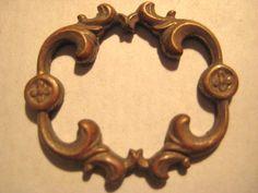 1 Older Vintage Heavy Struck Brass Frame Finding by StarPower99, $3.20